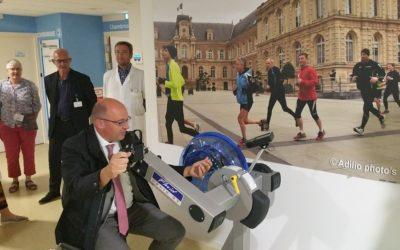 Trois inaugurations des Chemins de la Forme à l'hôpital en septembre 2018