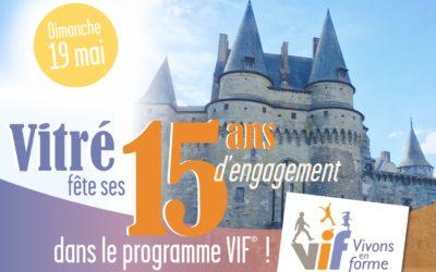 Vitré fête ses 15 ans dans le programme Vivons en Forme, avec l'IRFO !